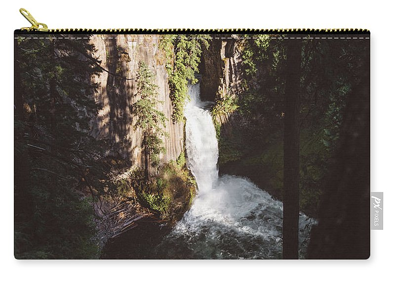 Waterfall Carry-all Pouch featuring the photograph Toketee Falls by Chad Gray