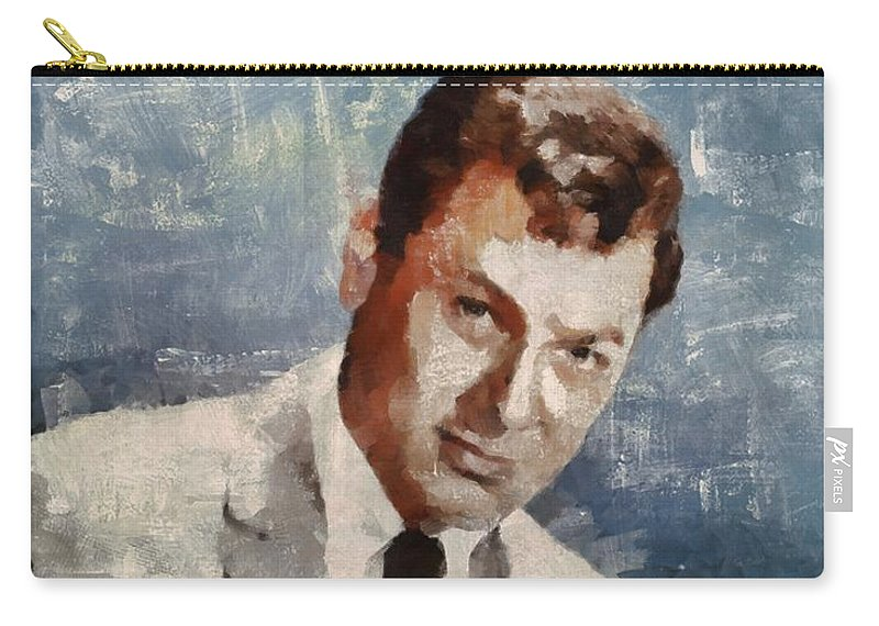 Tony Carry-all Pouch featuring the painting Tony Curtis Vintage Hollywood Actor 5 by Mary Bassett