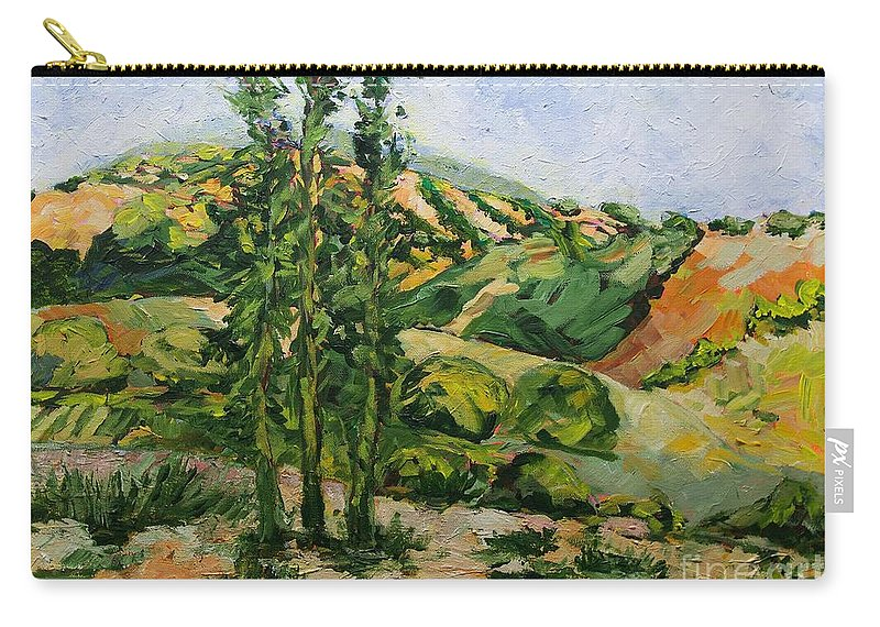 Landscape Carry-all Pouch featuring the painting Top of the Hill by Allan P Friedlander