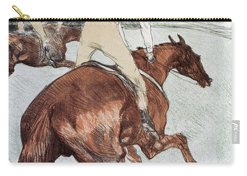 1899 Carry-all Pouch featuring the photograph Toulouse-lautrec, 1899 by Granger