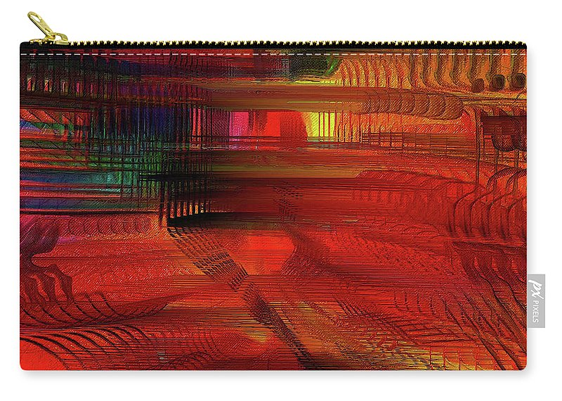 Colorful Carry-all Pouch featuring the digital art Transition by Mike Butler
