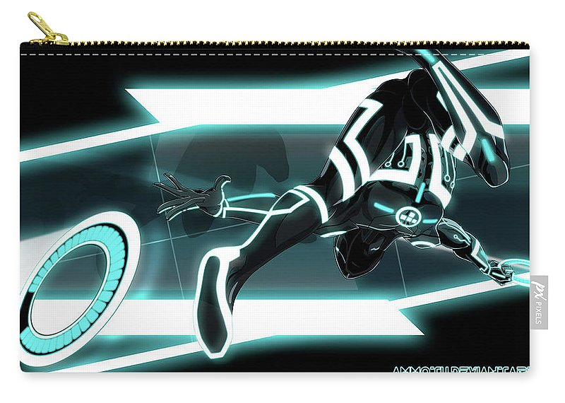 Tron Legacy Carry-all Pouch featuring the digital art TRON Legacy by Maye Loeser