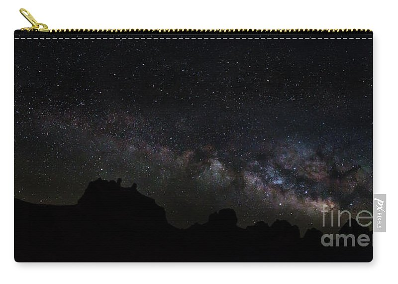 Milky Way Carry-all Pouch featuring the photograph Trona Pinnacles Milky Way by Mark Jackson