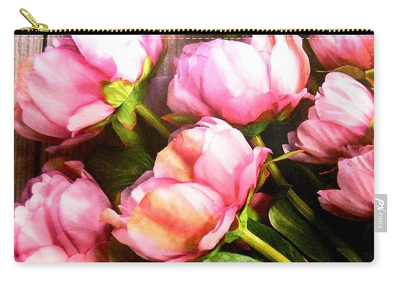 Flowers Carry-all Pouch featuring the photograph Tulips 3 by Lord Frederick Lyle Morris - Disabled Veteran