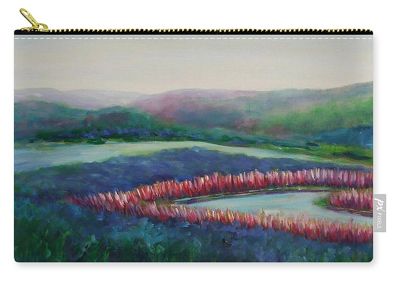 Landscape Carry-all Pouch featuring the painting Tweet Stream by Shannon Grissom