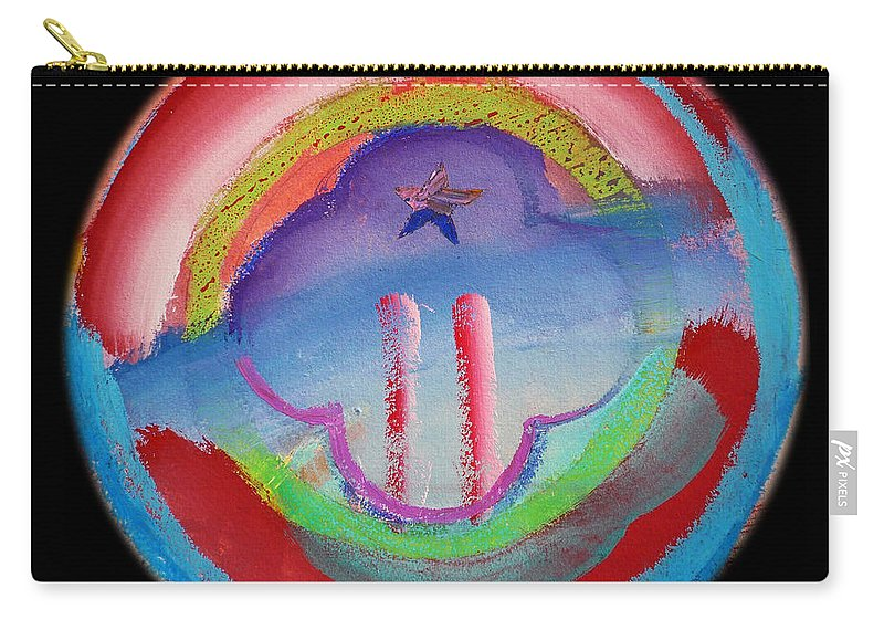Carry-all Pouch featuring the painting Two Towers by Charles Stuart