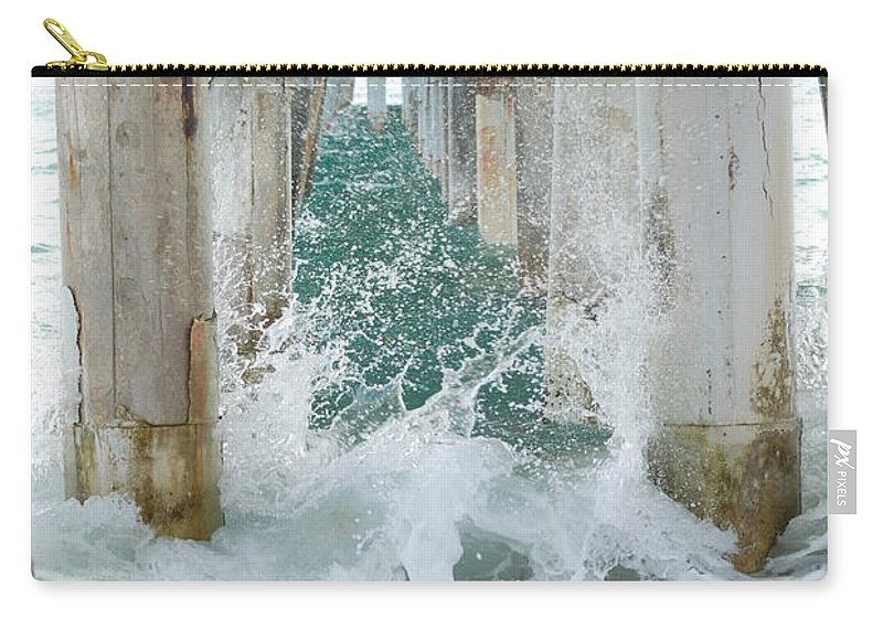 Ocean Carry-all Pouch featuring the photograph Under The Boardwalk by Rob Hans