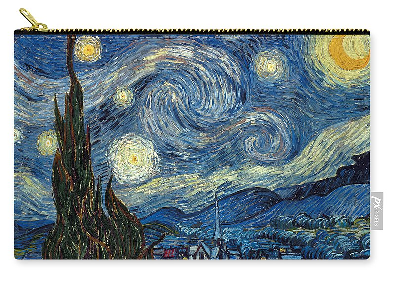 1889 Carry-all Pouch featuring the painting Van Gogh Starry Night by Granger