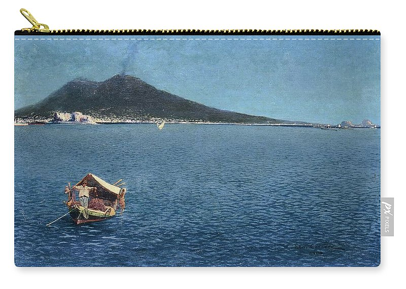Ettore Carnera (xix-xx Secolo) Carry-all Pouch featuring the painting Veduta Del Vesuvio by Ettore Carnera