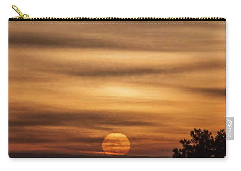 Natanson Carry-all Pouch featuring the photograph Veiled Sunrise by Steven Natanson