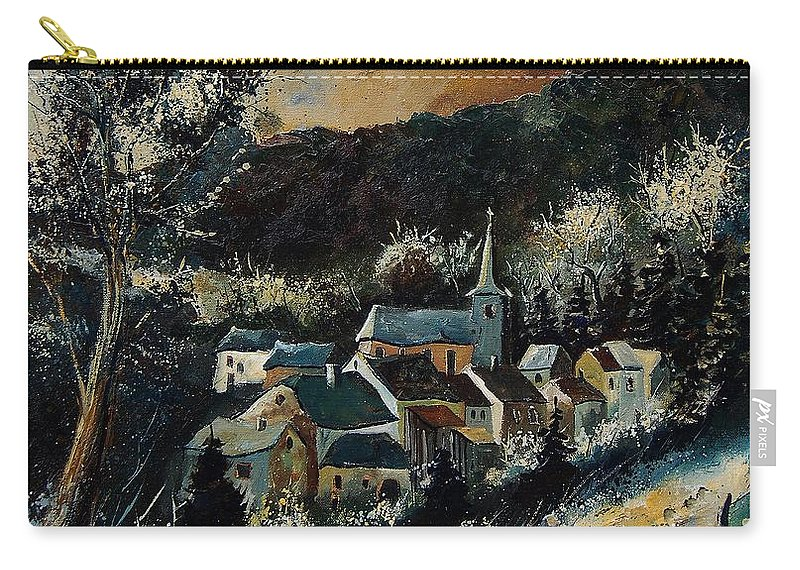 Tree Carry-all Pouch featuring the painting Vencimont 78 by Pol Ledent