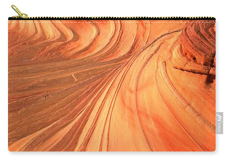 The Wave Carry-all Pouch featuring the photograph Vermilion Cliffs Dragon by Adam Jewell