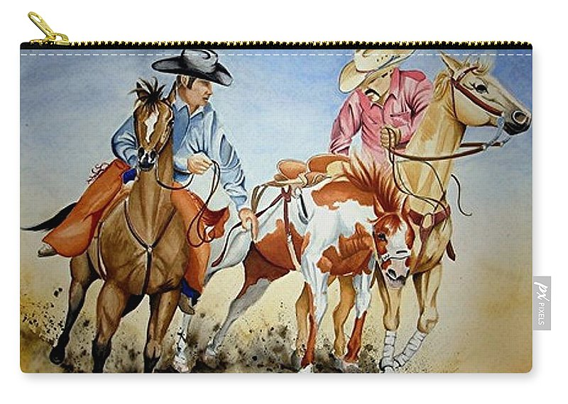 Art Carry-all Pouch featuring the painting Victory Dance by Jimmy Smith