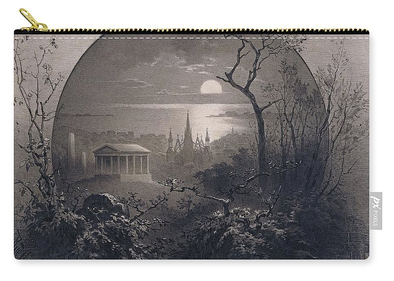 Rudolph Cronau (american Carry-all Pouch featuring the painting View From Greenwood Cemetery by MotionAge Designs