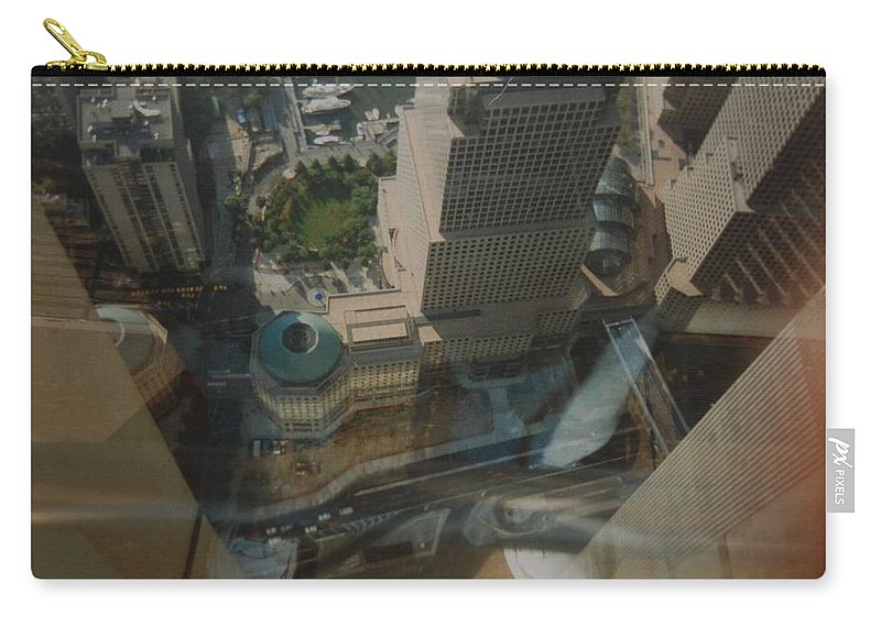Wtc Carry-all Pouch featuring the photograph View From The W T C by Rob Hans