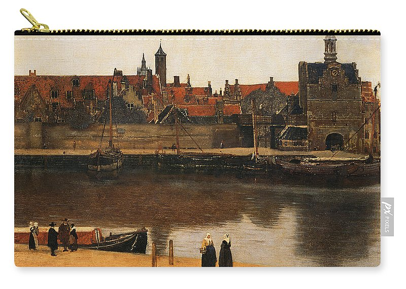 View Of Delft Carry-all Pouch featuring the painting View Of Delft by Jan Vermeer