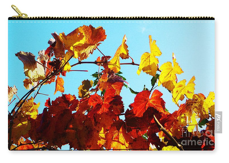 Grape Vineyard Carry-all Pouch featuring the photograph Vineyard 12 by Xueling Zou