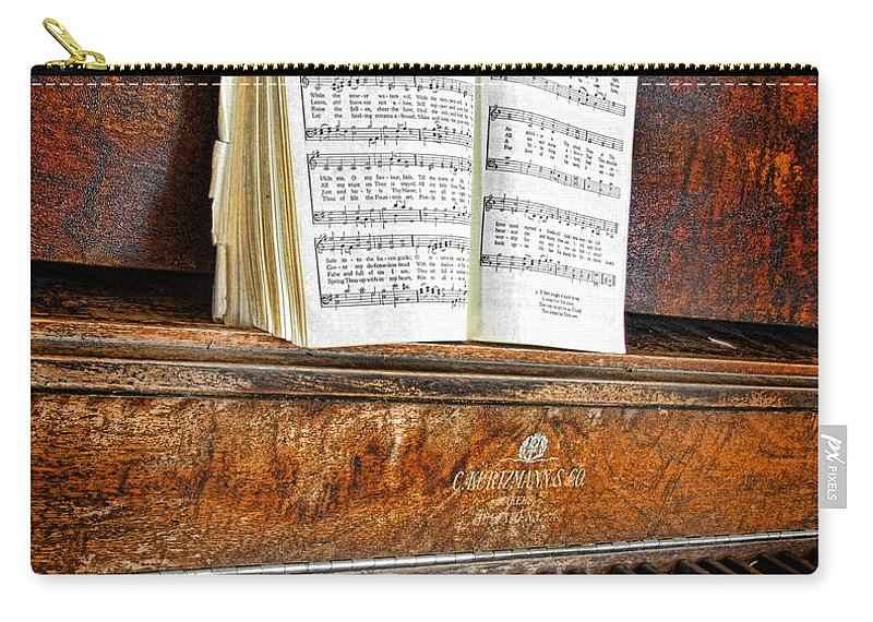 Piano Carry-all Pouch featuring the photograph Vintage Piano by Jill Battaglia