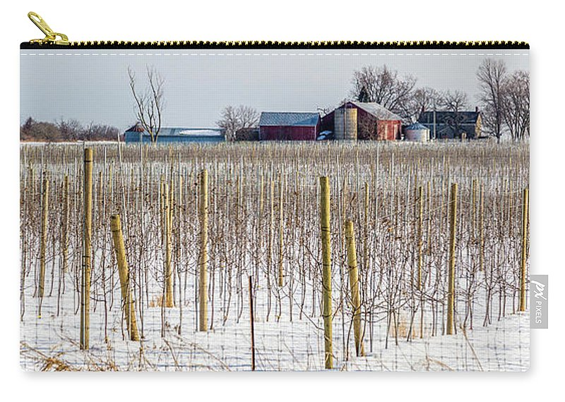 Grapevines Carry-all Pouch featuring the photograph Vinyard On Down Road by Roger Monahan