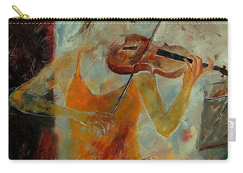 Music Carry-all Pouch featuring the painting Violinist 67 by Pol Ledent