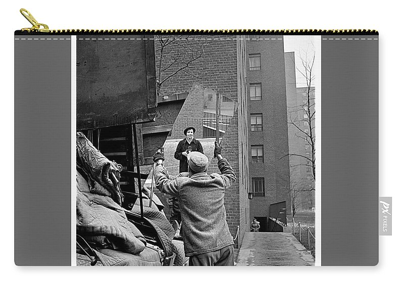 Vivian Maier Self Portrait Probably Taken In Chicago Illinois 1955 Carry-all Pouch featuring the photograph Vivian Maier Self Portrait Probably Taken In Chicago Illinois 1955 by David Lee Guss