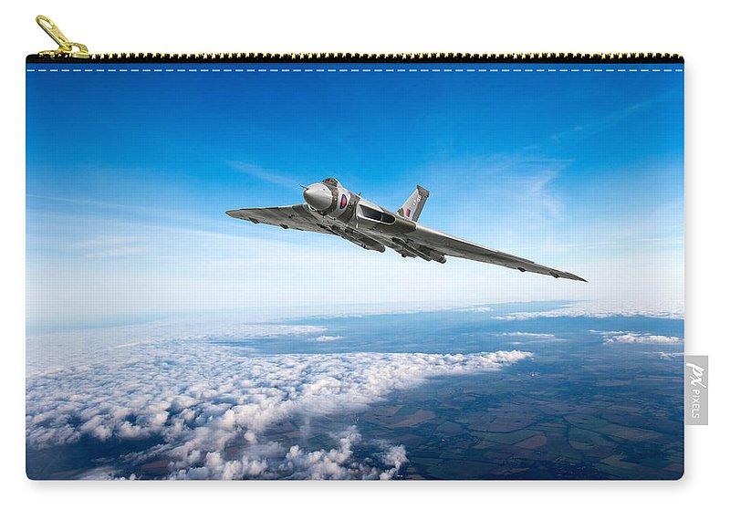 Avro Vulcan Carry-all Pouch featuring the photograph Vulcan In Flight by Gary Eason