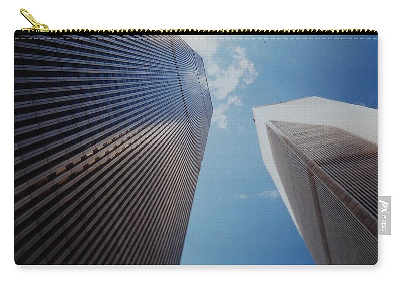 Wtc Carry-all Pouch featuring the photograph W T C 1 And 2 by Rob Hans