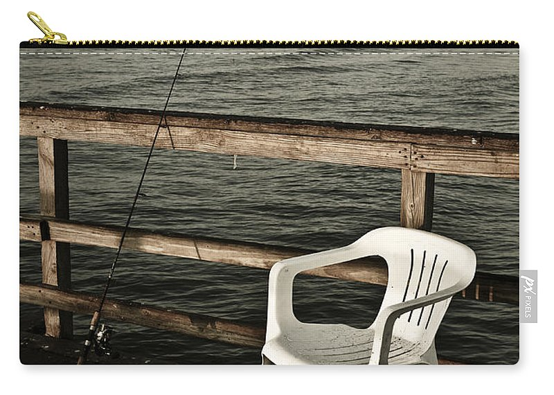 Fish Carry-all Pouch featuring the photograph Waiting by Marilyn Hunt