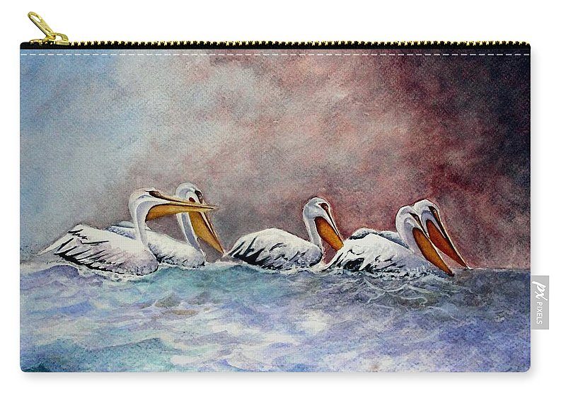 Art Carry-all Pouch featuring the painting Waiting Out The Storm by Jimmy Smith