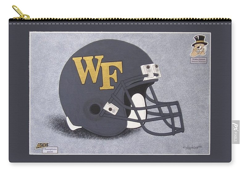Wake Forest Carry-all Pouch featuring the painting Wake Forest T-shirt by Herb Strobino
