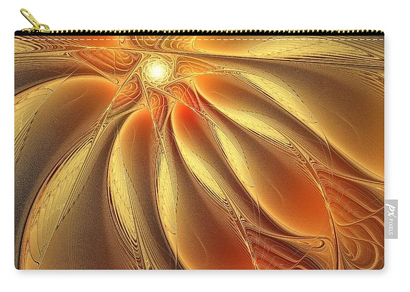 Digital Art Carry-all Pouch featuring the digital art Warm Feelings by Amanda Moore