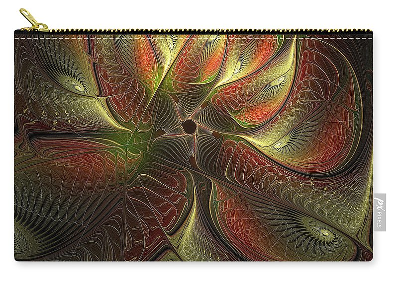 Digital Art Carry-all Pouch featuring the digital art Watchful by Amanda Moore
