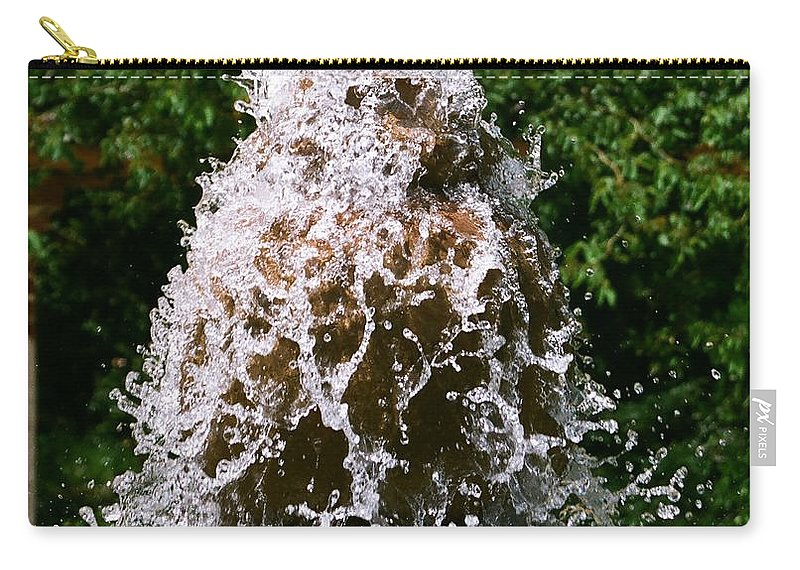 Water Carry-all Pouch featuring the photograph Water Fountain by Dean Triolo