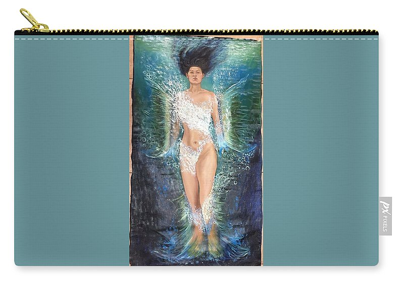 Water Girl Carry-all Pouch featuring the painting Water Girl by Wins Dieus