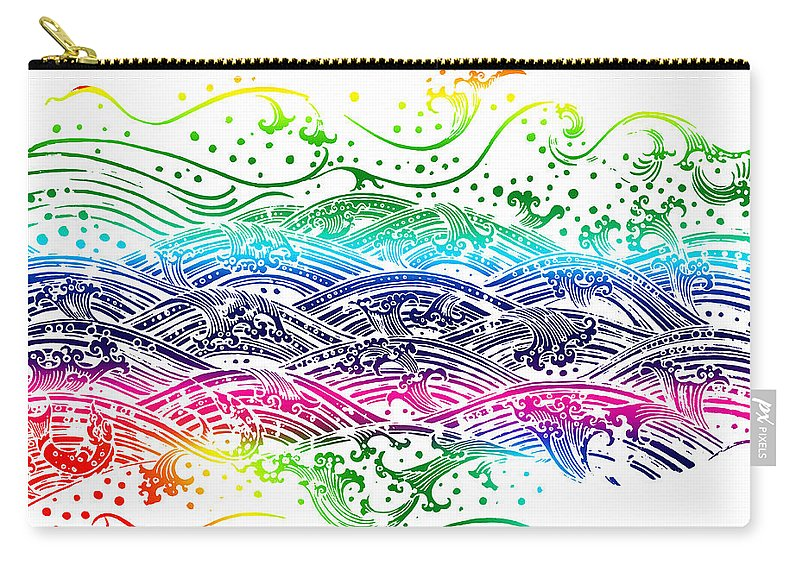 Abstract Carry-all Pouch featuring the painting Water Pattern by Setsiri Silapasuwanchai