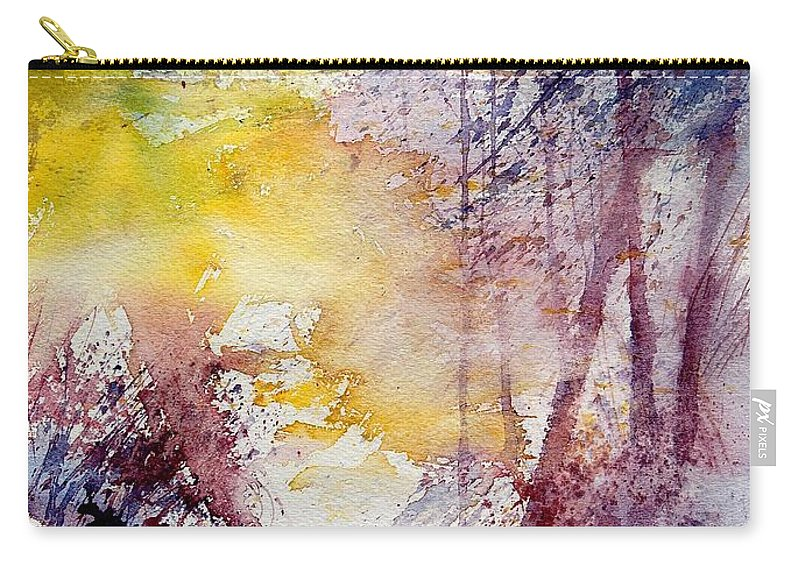 River Carry-all Pouch featuring the painting Watercolor 040908 by Pol Ledent