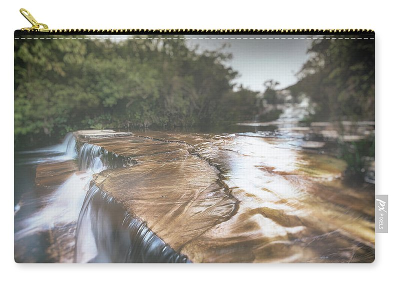 Analog Efex Pro 2 (double Exposure) Carry-all Pouch featuring the photograph Waterfall by Enio Godoy