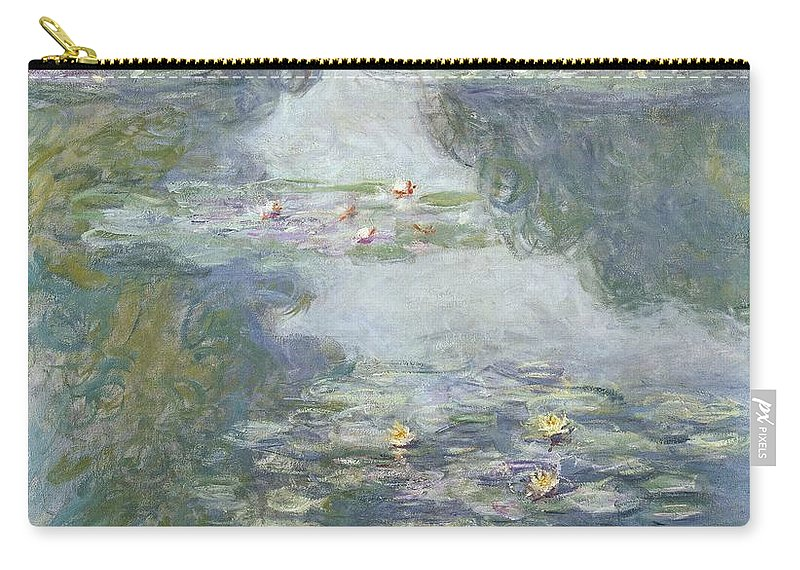 Pads Carry-all Pouch featuring the painting Waterlilies by Claude Monet