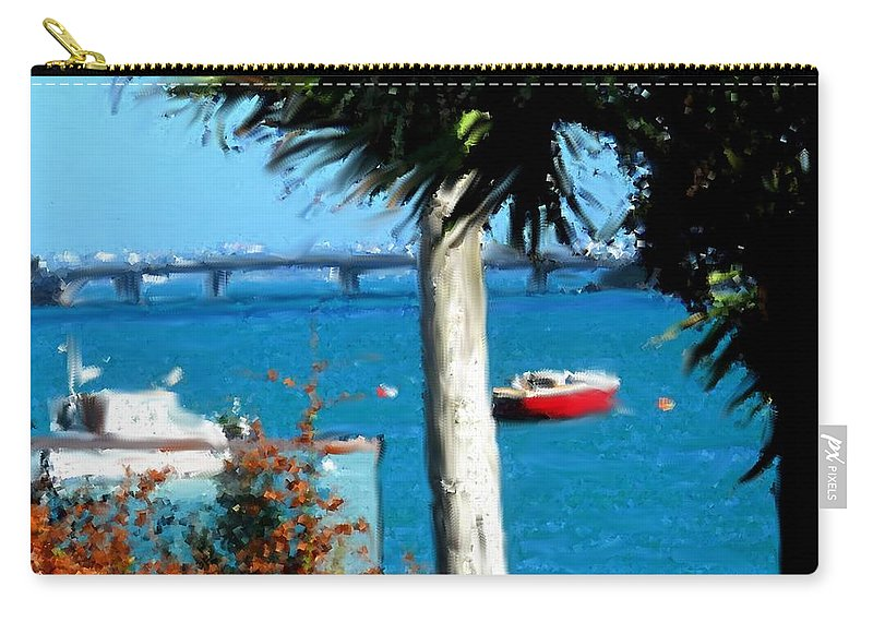 Watford Carry-all Pouch featuring the photograph Watford Bridge From Cambridge Beaches by Ian MacDonald