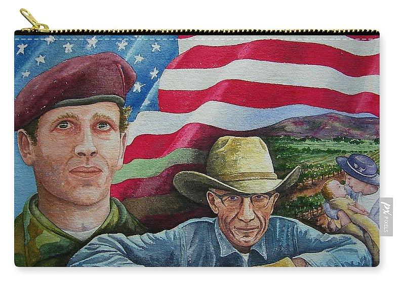 Soldier Carry-all Pouch featuring the painting We Hold These Truths by Gale Cochran-Smith