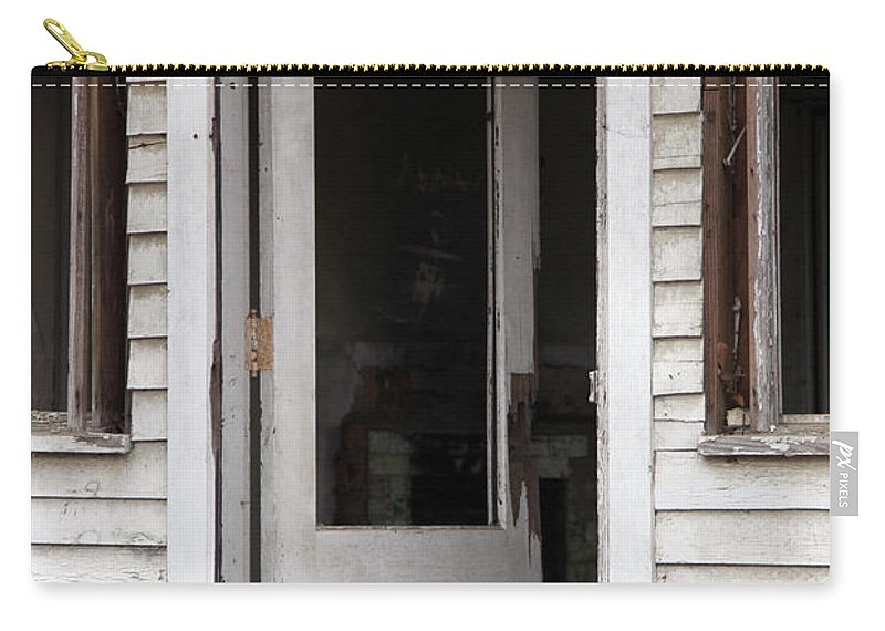 Old Buildings Carry-all Pouch featuring the photograph Welcome by Amanda Barcon