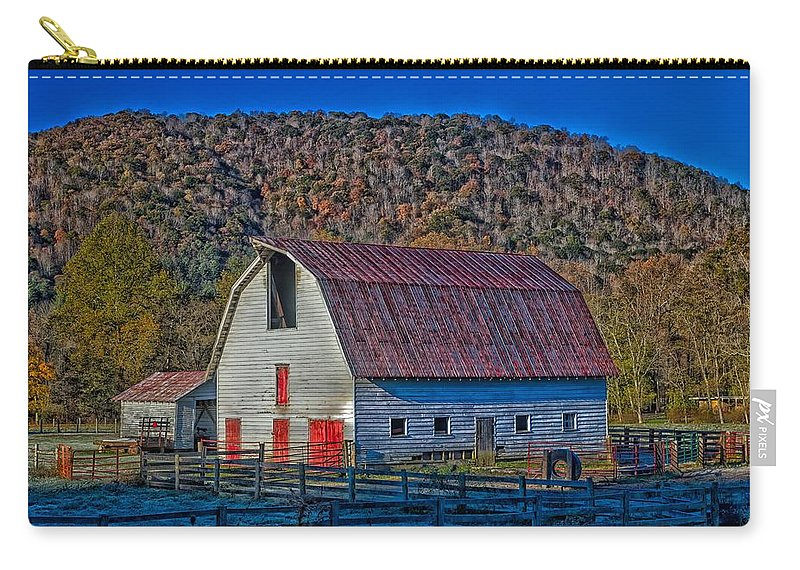 West Virginia Carry-all Pouch featuring the photograph West Virginia Barn by Mountain Dreams