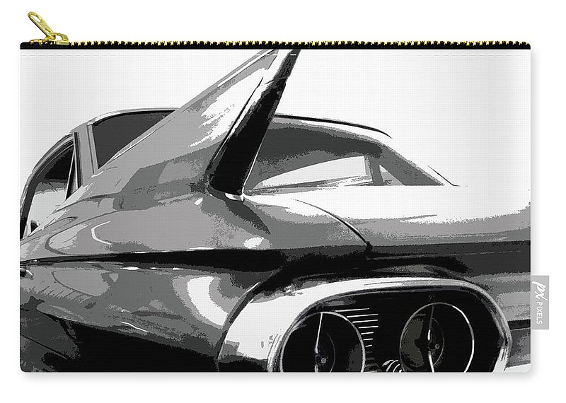 Cadillac Carry-all Pouch featuring the photograph When Fins Were Fashionable by Dick Goodman