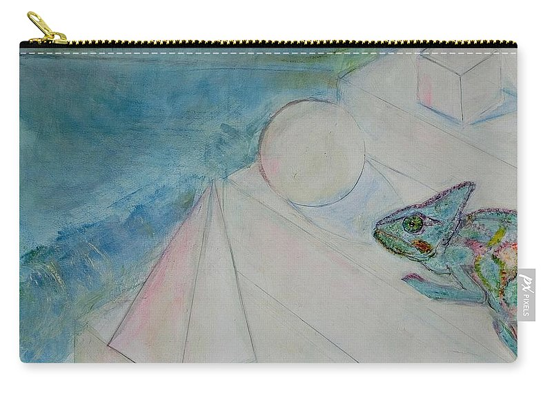 Symbolism Carry-all Pouch featuring the painting When Time Began by Michela Akers