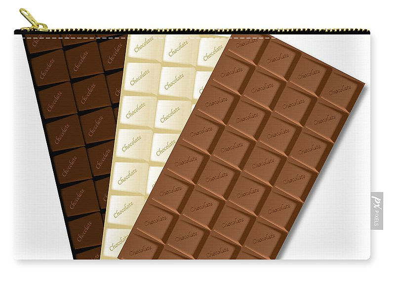 Chocolate Carry-all Pouch featuring the digital art White Chocolate Bar by Bigalbaloo Stock