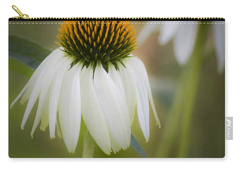 Coneflower Carry-all Pouch featuring the photograph White Coneflower by Teresa Mucha