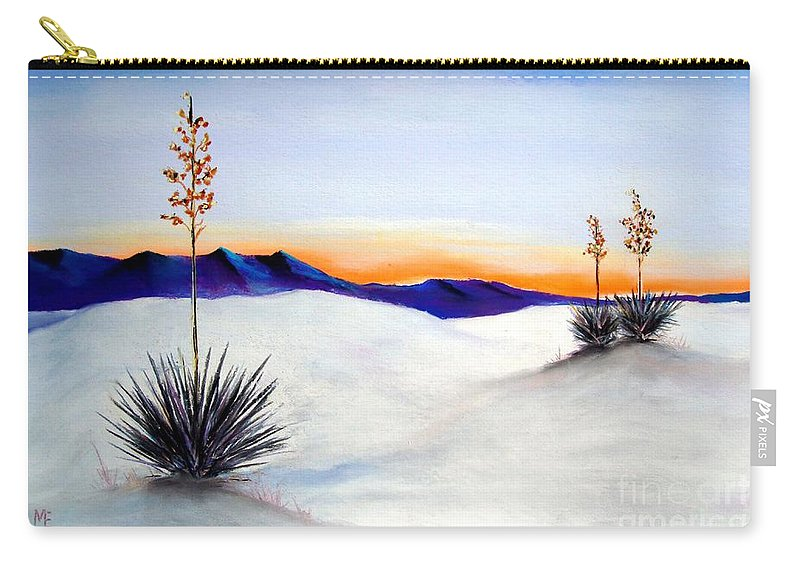 White Sands Carry-all Pouch featuring the painting White Sands by Melinda Etzold