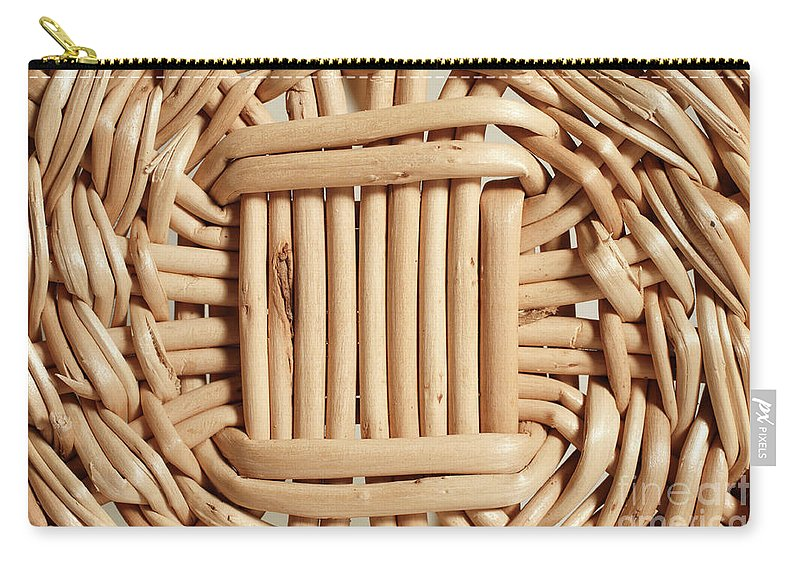 Basketwork Carry-all Pouch featuring the photograph Wicker Basket by Gaspar Avila