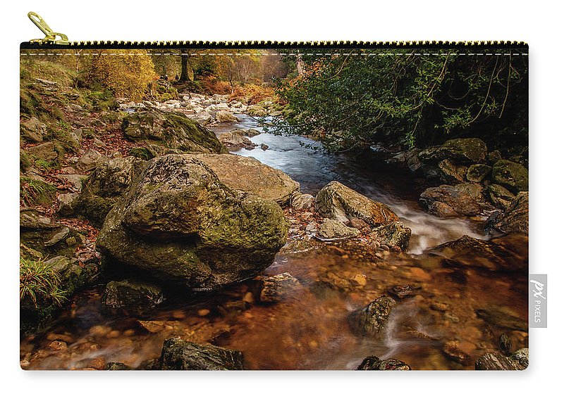 Wicklow Stream Carry-all Pouch featuring the photograph Wicklow Stream by Martina Fagan