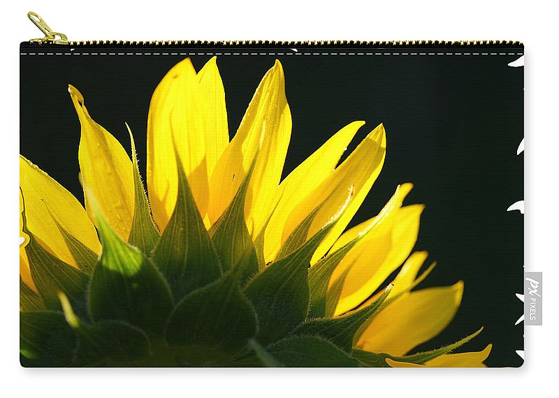 Sunflower Yellow Plant Green Photograph Phogotraphy Digital Art Carry-all Pouch featuring the photograph Wild Sunflower by Shari Jardina